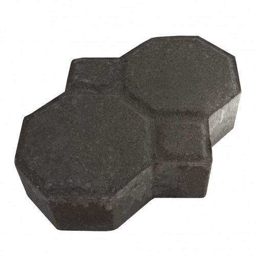 """MGM 2 Layers """"Penguin"""" Type Interlocking Paver Block P2BK - Black (PV00010-00001)"""