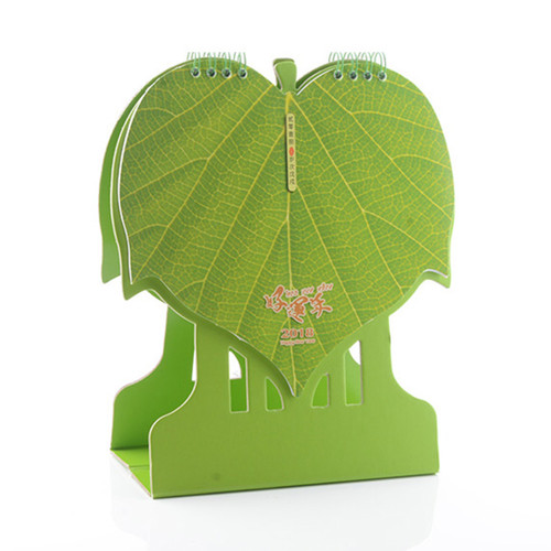 Table Calendar 2018 - Green Leaves