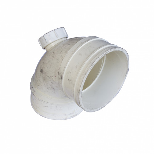 UPVC Fittings 92 1/2° Bend with Door BS4514 White (P00016-00890)