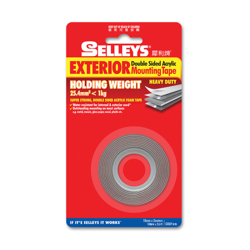Selleys Double Sided Mounting Tape Clear 24Mmx2M