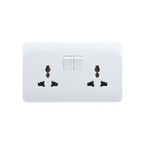 My Home Diy White 2 Gang Universal Switch Socket