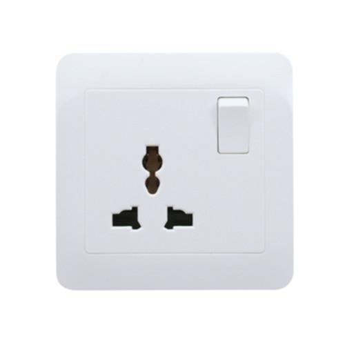My Home Diy White  1 Gang Universal Switch Socket