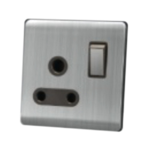 My Home Diy Silver 15A 1 Gang Switch Socket