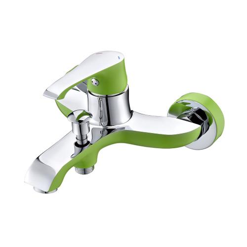 Ph2016-3Al Chrome & Green Bathtub Mixer