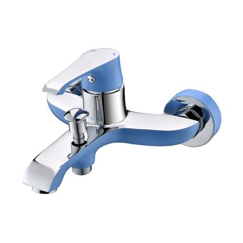 Ph2016-3As Chrome & Blue Bathtub Mixer