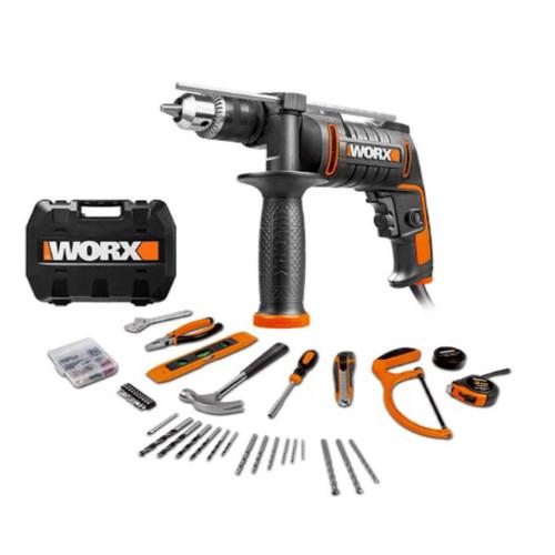 Worx WX317.3 13MM 600W Impact Drill 112Pcs Acc