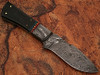 White Deer Damascus Steel Custom Handmade Skinner  Knife Buffalo Handle