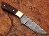 Japanese 1095 HC & 15N20 Alloy Steel Handmade Damascus Hunting Knife Wood Handle