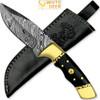White Deer Handmade Loneman Damascus Steel Hunting Knife