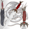 Skyrim Dark Brotherhood Dagger Dragonborn Dovahkiin Flying Dragon 24in Steel