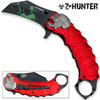 Z-HUNTER Zombie Tactical Karambit Red Knife