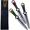 Grinning Demon Throwing Knife Set of 3 Death Note Ninja Skulls