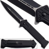 Spring Assist . Fast Action Knife Black