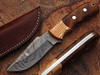 White Deer Rosewood & Olive-Wood Classic Damascus Skinner Limited Edition