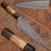 Custom Made Damascus Steel Olive wood ,Hard wood Handle