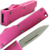 Electrifying California Legal OTF Dual Action Knife (Pink)