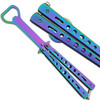 Bottle Popping Titanium Coated Balisong Opener ALL STEEL Butterfly