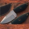 Hardened J2 German Steel Knife Handmade Full Tang Skinner Green Handle