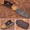 ENGRAVED Nesmuk Folding Damascus Knife