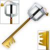 Kingdom Hearts FOAM Keyblade GOLD Dark Side Key D