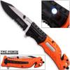 TAC Force EMT Hi-Vis Rescue Flashlight Pocket Knife