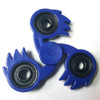 KameHa Wave Fidget Tri-Spike Spinner Blue Fireball