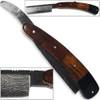 White Deer Damascus Steel Ultra Sharp Straight Razor Shaving - Bison Horn & Walnut Grips