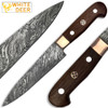 White Deer Forged Paring Knife Pro Chef Cutlery Damascus Steel 1095 HC
