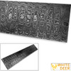 White Deer LADDER PATTERN Billet Damascus Steel Forge Welded 10in x 2in x 5mm Raw