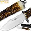 WHITE DEER Apprentice 2 9.75in Knife 440 Stainless Steel Sim-Stag Handle
