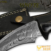 WHITE DEER Mission Tactical Karambit Knife 9.25in Full Damascus Forged Steel