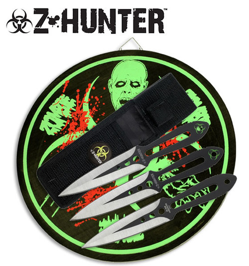 Zombie Hunter 3 Pcs 6 Inch Throwing Knives Set