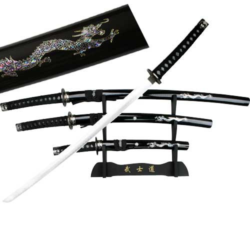 Japanese Samurai Practical Sword Set Black