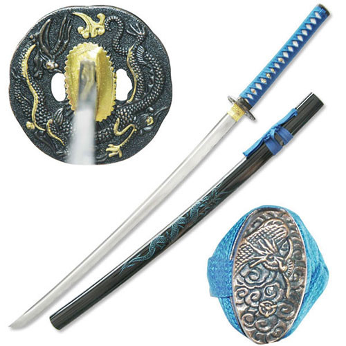 Full Tang Dragon Samurai Hand Forged Functional Sword