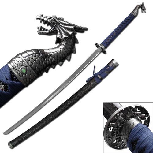 Dragon Slayer Katana Sword Blue