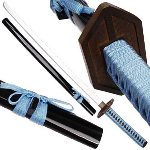 Aizen Sousuke Darker Anime Wooden Sword Replica | Blue