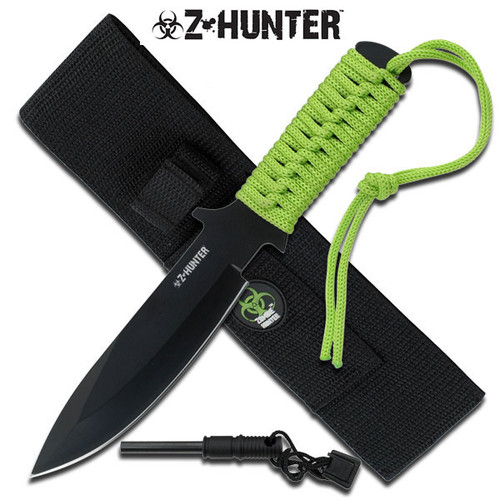 Zombie Hunter Full Tang Fire Starter Hunting Camping Knife