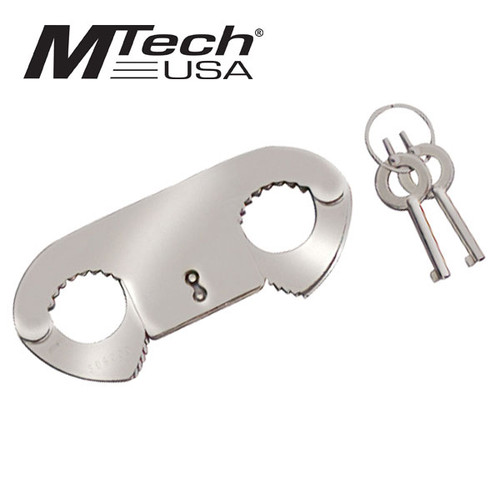 Thumb Cuffs with Keys - Stainless steel construction