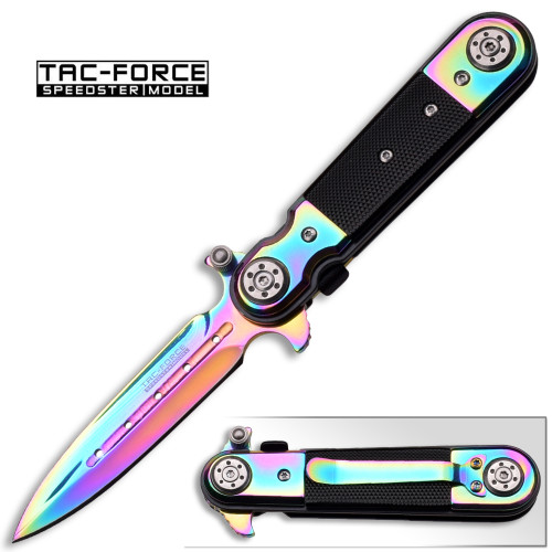 Rainbow Stiletto Style Assisted Knife