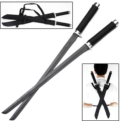 Ninja Strike Force Twin Sword Set w/ Backstrap