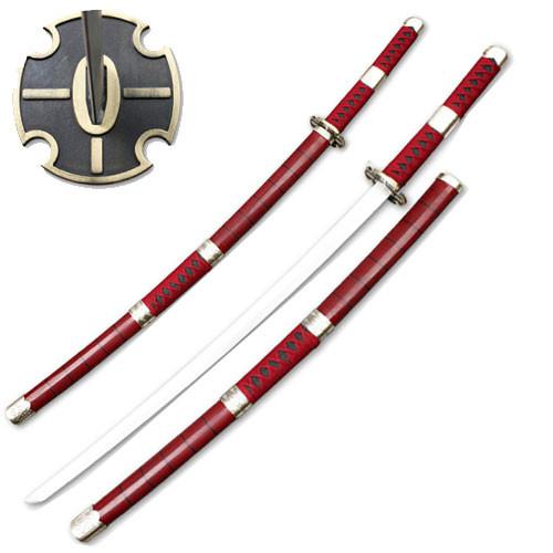 One Piece Anime Cosplay Replica Zoro Wado Ichimonji Sword
