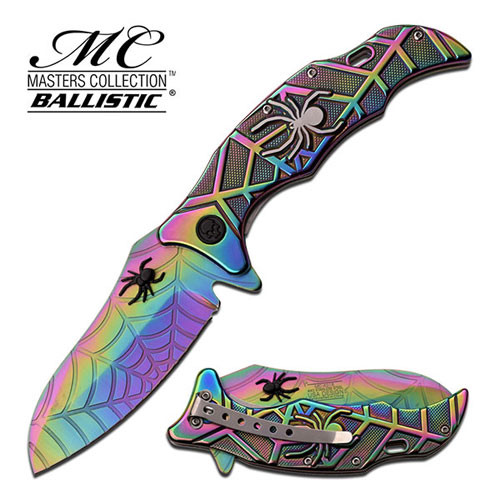 SPIDER COLLECTION SPRING ASSISTED KNIFE TITANIUM
