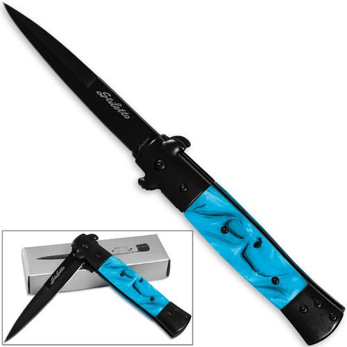 Blue Milano Godfather Kissing Crane Knives