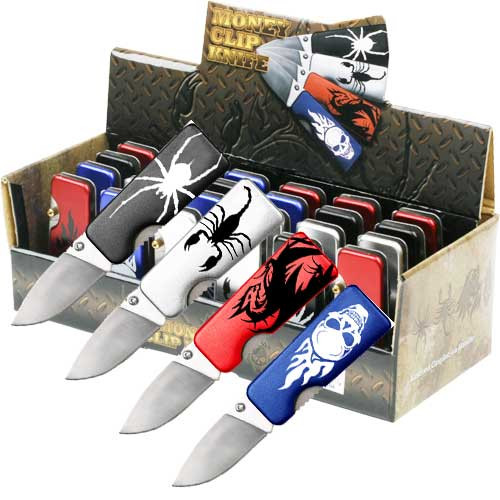 Money Clip Folder Knife 24 Pcs in The Box