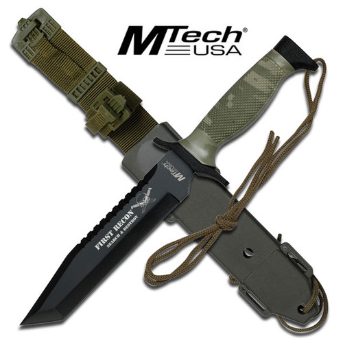FIRST RECON MTech Tactical Knife With Custom Sheath