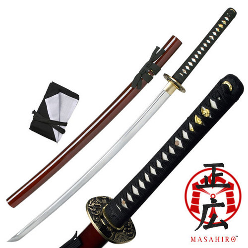 "TENRYU MAZ-020RD HAND FORGED SAMURAI SWORD 40.9"" OVERALL"