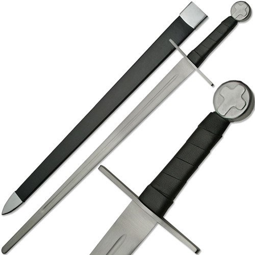 Knights Templar Full Tang Sword Blunt Battle Ready Medieval Cros