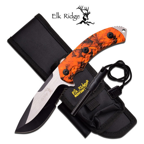 "Elk Ridge  FIXED BLADE KNIFE 9.25"" OVERALL"