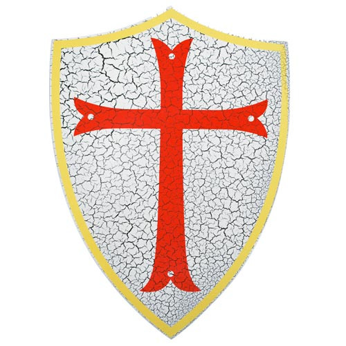 Knights Templar  Wood Shield