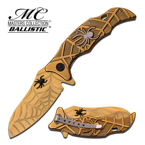 SPIDER COLLECTION  SPRING ASSISTED KNIFE GOLD